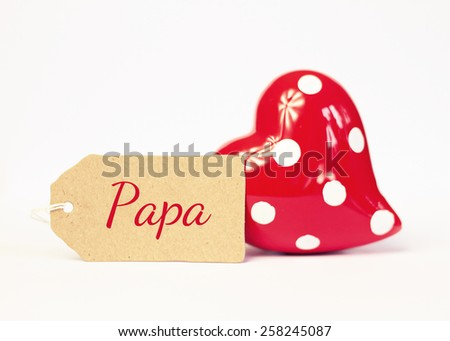 lovely greeting card - german for dad - stock photo