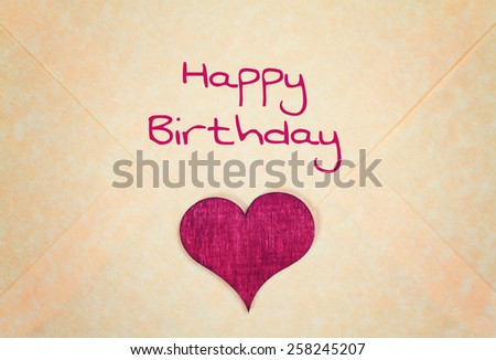 lovely greeting card - happy birthday - stock photo