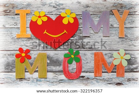 Lovely greeting card - Happy Mother's Day - stock photo