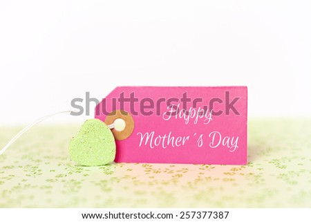 lovely greeting card - happy Mothers day - stock photo