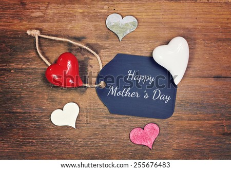lovely greeting card - Mother �´s day - stock photo