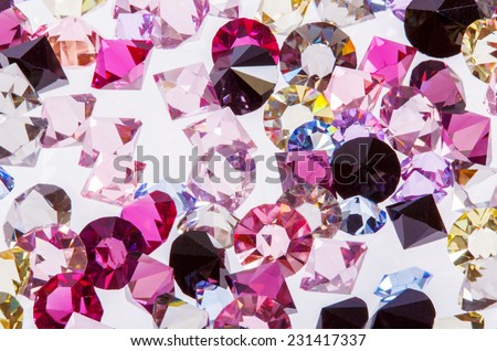 Lovely real colorful gems collection - stock photo
