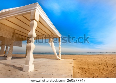 Lovely sea with wild place for private celebration - stock photo