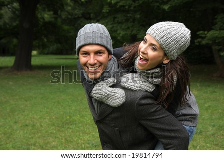 lovely smiling - stock photo