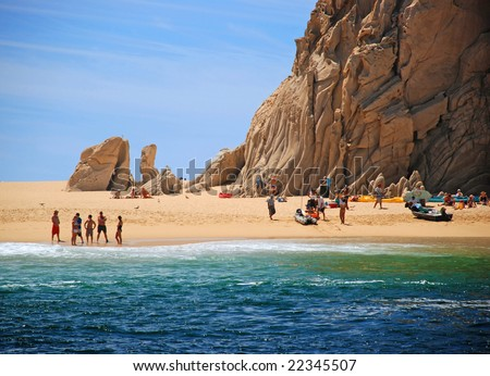 Lover's Beach in Cabo San Lucas, Mexico - stock photo