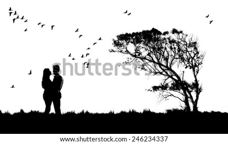 Lovers couple - stock photo