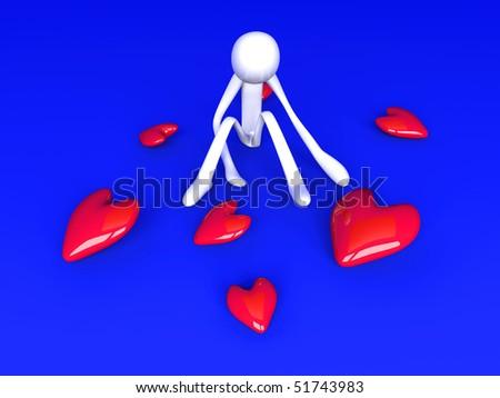 Lovesick - stock photo