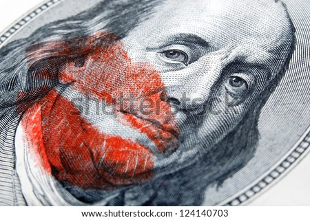 loving money - stock photo