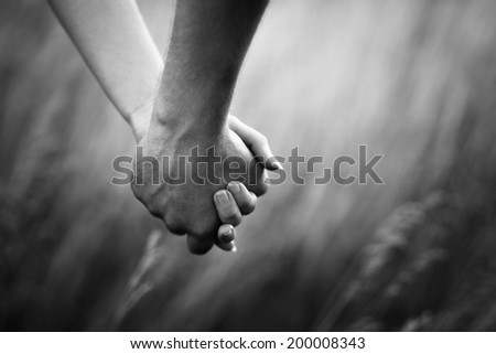 loving touch - stock photo