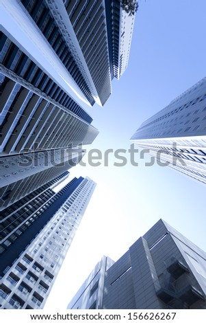 Low angle view of skyscraper - stock photo