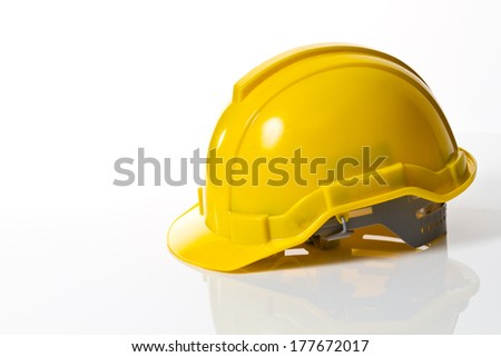 low Hard Hat with Clipping Path - stock photo