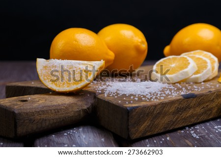 low key lemons - stock photo