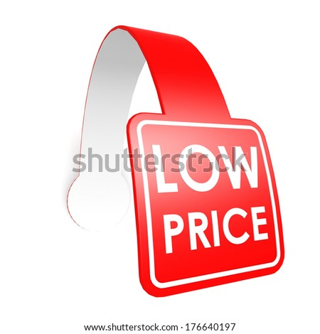 Low price hang label - stock photo