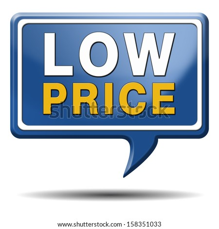 Lowest Price Icon Bargain Lowest Prices Best
