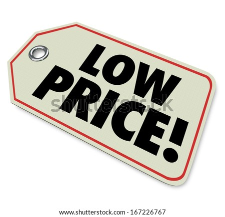 Low Price Tag Sticker Discount Clearance Sale - stock photo