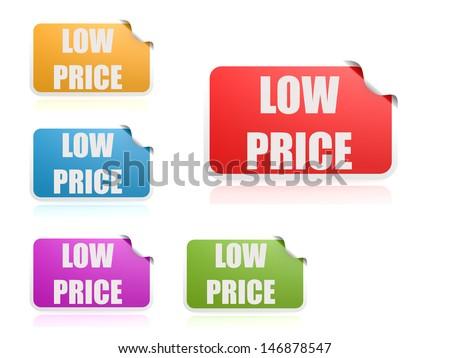 Low priice label set - stock photo