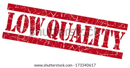 Low quality grunge red stamp - stock photo