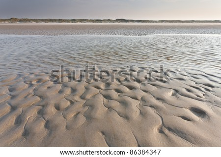 Low tide - stock photo