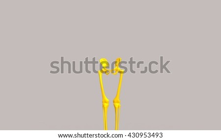 lowe limb anotomy 3d illustration - stock photo