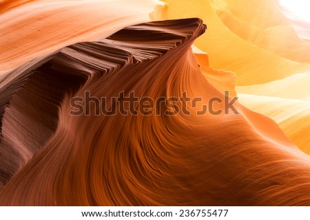 Lower Antelope Canyon, Arizona - stock photo