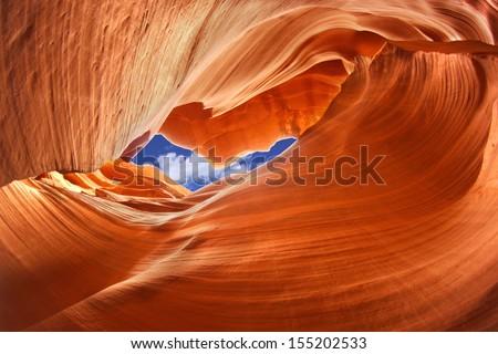Lower Antelope Canyon, Arizona, USA  - stock photo