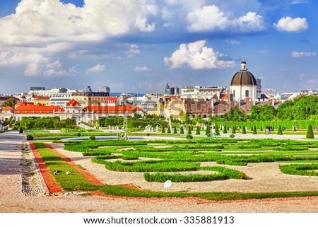 Lower Belvedere. Main palace complex Belvedere.Vienna.Austria. - stock photo