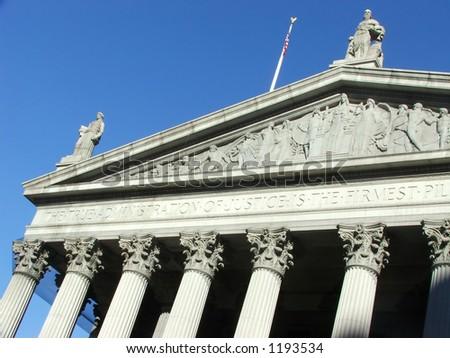 Lower Manhattan Courthouse - stock photo