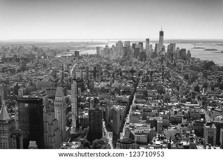 Lower Manhattan, New York - stock photo