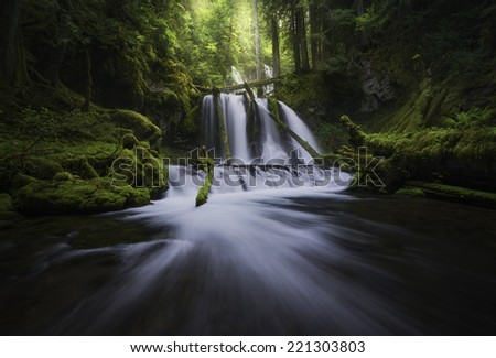 Lower panther falls - stock photo