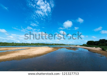 Lower Sabie River - stock photo