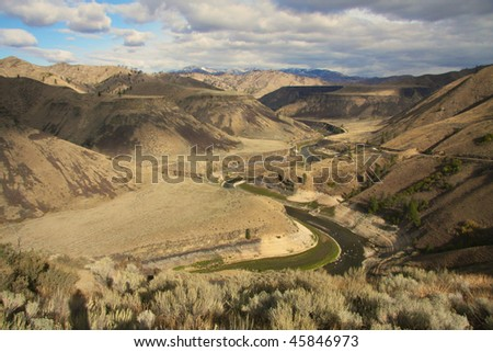 Lower South Fork of the Boise River - stock photo