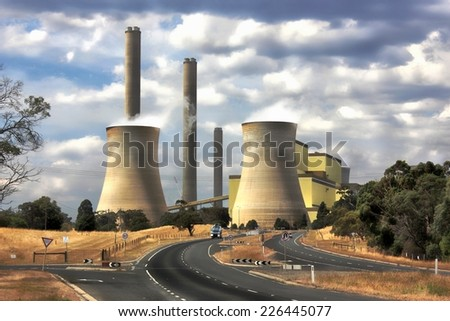 Loy Yang power station - stock photo