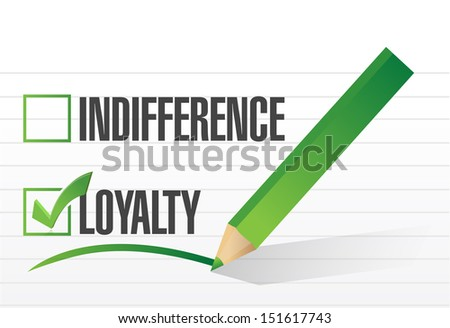 loyalty selected illustration design over a notepad paper - stock photo