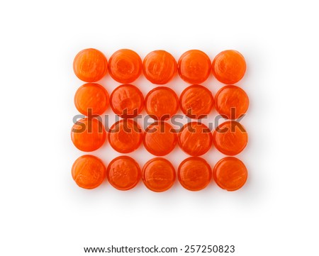 Lozenges cough ,  isolated on white background - stock photo