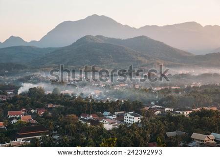 Luang Prabang Landscape. - stock photo