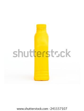 Lubricants plastic bottle on white background  - stock photo