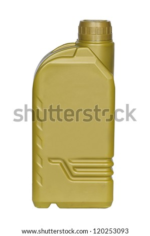 Lubricating oil bottle isolated on a white background - stock photo