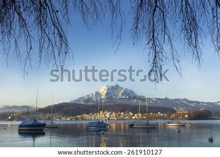 Lucerne Lake,Switzerland - stock photo