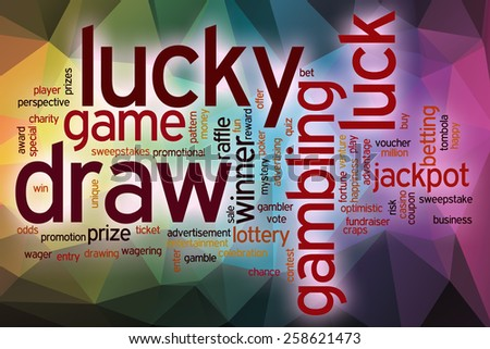 Cloud Designs Drawings Lucky Draw Word Cloud Concept