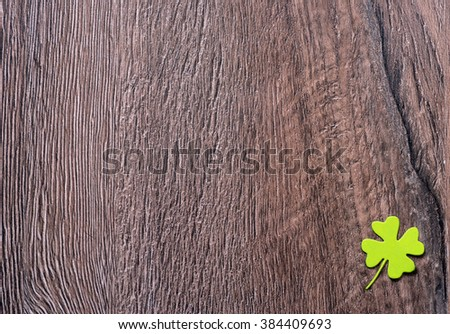lucky shamrocks on a old wood vintage background - stock photo