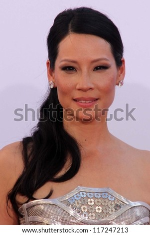 Lucy Liu at the 2012 Primetime Emmy Awards Arrivals, Nokia Theater, Los Angeles, CA 09-23-12 - stock photo