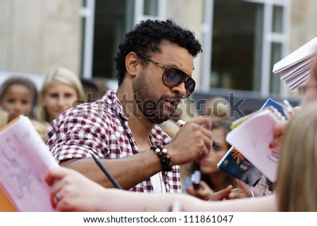 LUDWIGSBURG - AUGUST 29: Musician Shaggy, many national and international superstars from the music scene in the Forum Theatre celebrated in Ludwigsburg, Germany. August 29, 2012. - stock photo