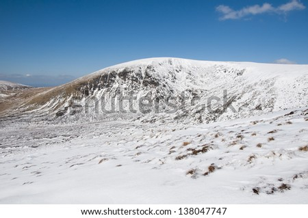 Lugnaquilla mountain in Wiclkow Mountains in Ireland - stock photo