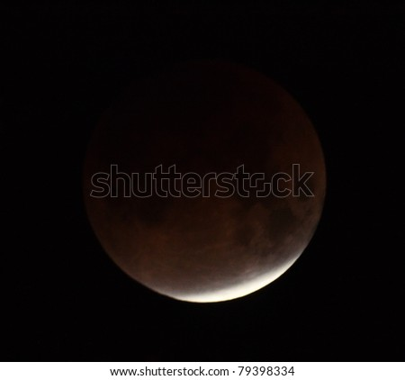 Lunar eclipse 21.02.08. Ukraine, Donetsk region - stock photo