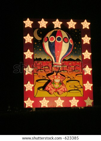 Lunar Orbit.Blackpool Illuminations Display. - stock photo