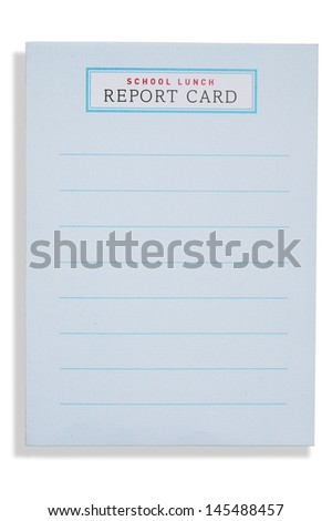 Lunch Report Card - stock photo