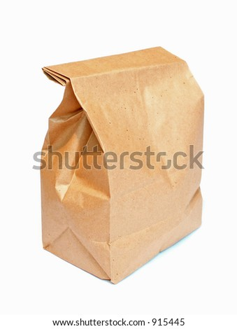 lunch sack - stock photo