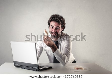 lunch time - stock photo