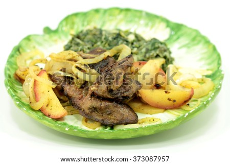 lunch with meat - stock photo