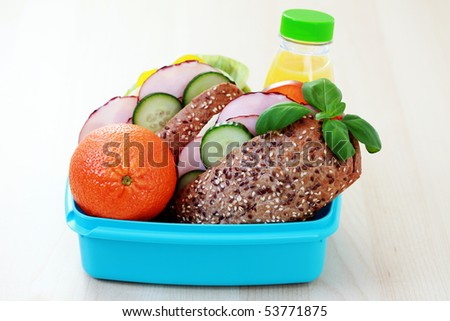 lunchbox - stock photo